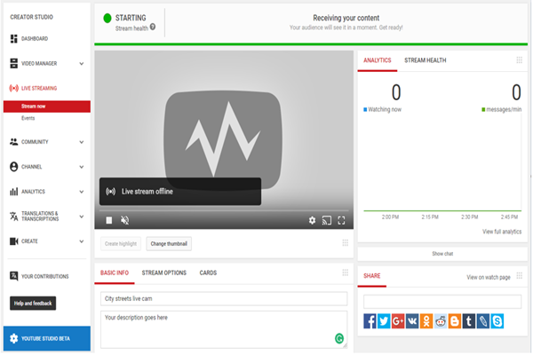 Google YouTube Creator Studio